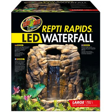 Zoo Med Repti Rapids Led Waterfall Large Rock Reptile