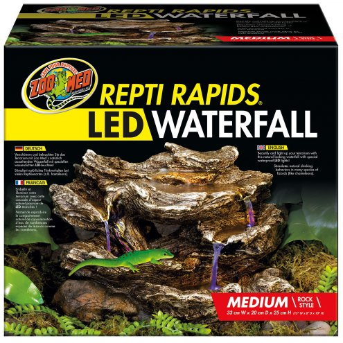 Zoo Med Repti-Rapids LED Waterfall Medium Rock