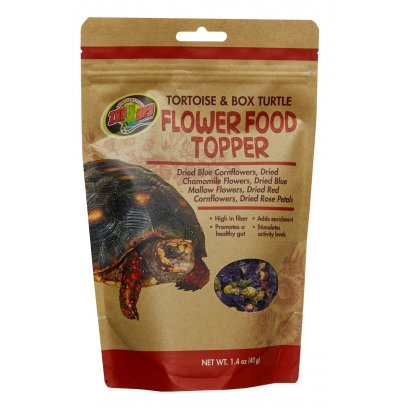 Zoo Med Tortoise Flower Food Topper 40g