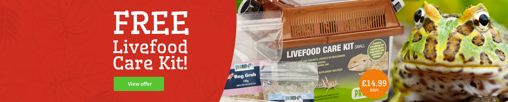 free livefood care kit
